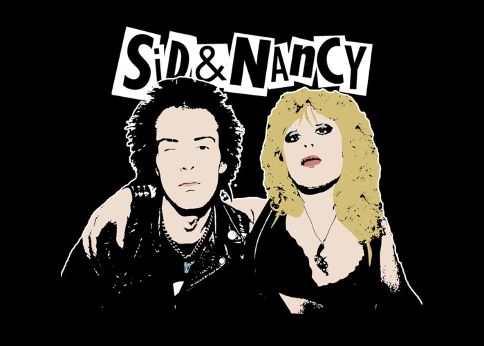 Sid And Nancy Greeting Card featuring the digital art Sid And Nancy by Valentina Hramov