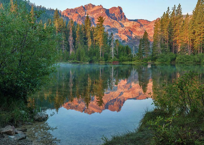 00574849 Greeting Card featuring the photograph Sierra Buttes From Sand Pond, Tahoe National Forest, California by Tim Fitzharris