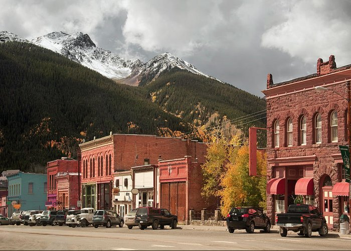 San Juan Mountains Greeting Card featuring the photograph Silverton, Colorado by Missing35mm