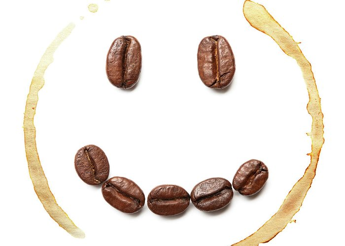 Spray Greeting Card featuring the photograph Smile Coffee Beans by T kimura