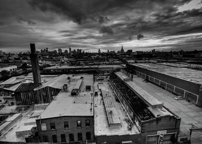 Industrial District Greeting Card featuring the photograph Smith 9th Panorama by Digitalcursor / Miron Kiriliv