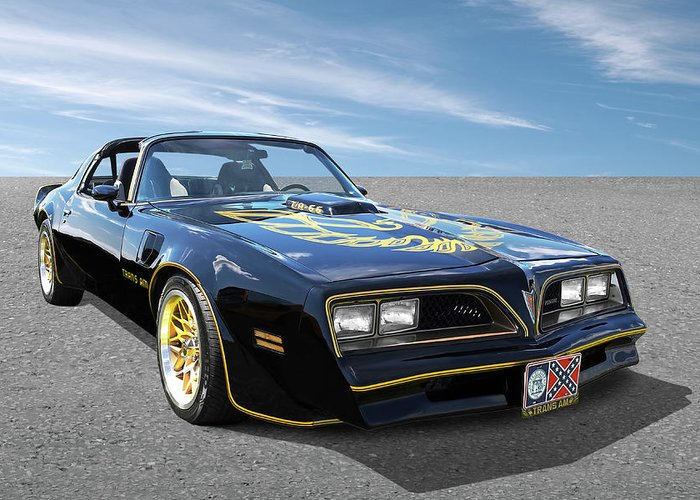 Smokey and the bandit trans am greeting card for sale by gill billington pontiac firebird greeting card featuring the photograph smokey and the bandit trans am by gill billington m4hsunfo