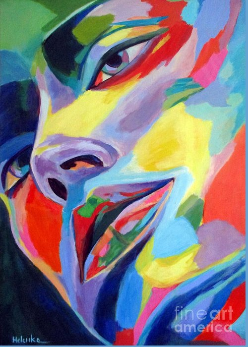 Affordable Paintings For Sale Greeting Card featuring the painting Spellbound Heart by Helena Wierzbicki