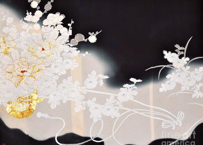 Greeting Card featuring the digital art Spirit of Japan T10 by Miho Kanamori