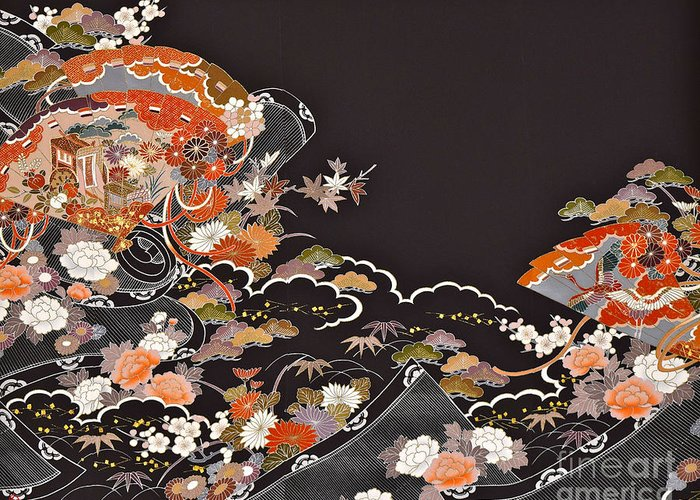 Greeting Card featuring the digital art Spirit of Japan T15 by Miho Kanamori