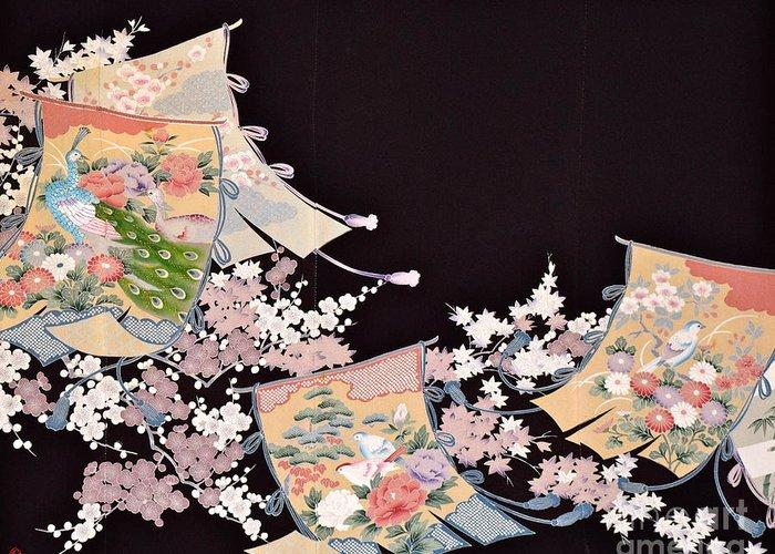 Greeting Card featuring the digital art Spirit of Japan T25 by Miho Kanamori