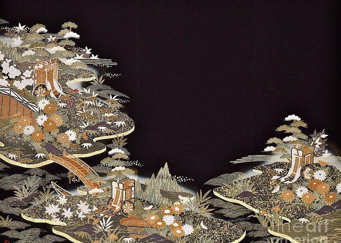 Greeting Card featuring the digital art Spirit of Japan T31 by Miho Kanamori