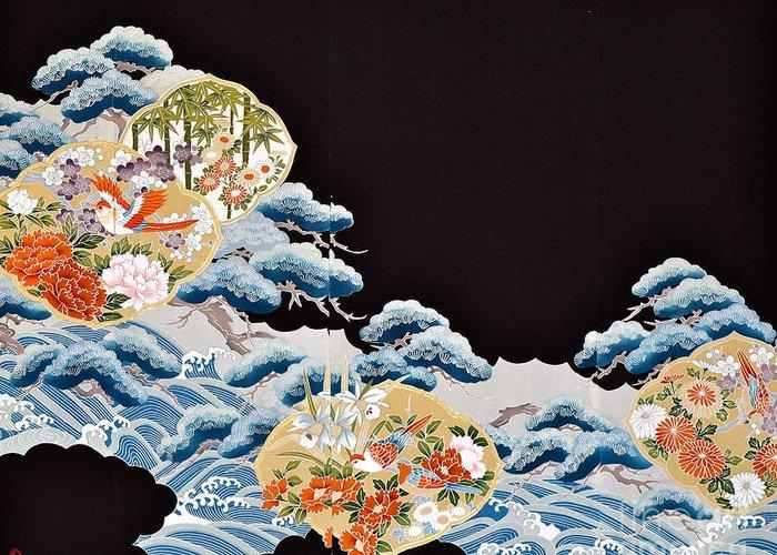 Greeting Card featuring the digital art Spirit of Japan T6 by Miho Kanamori