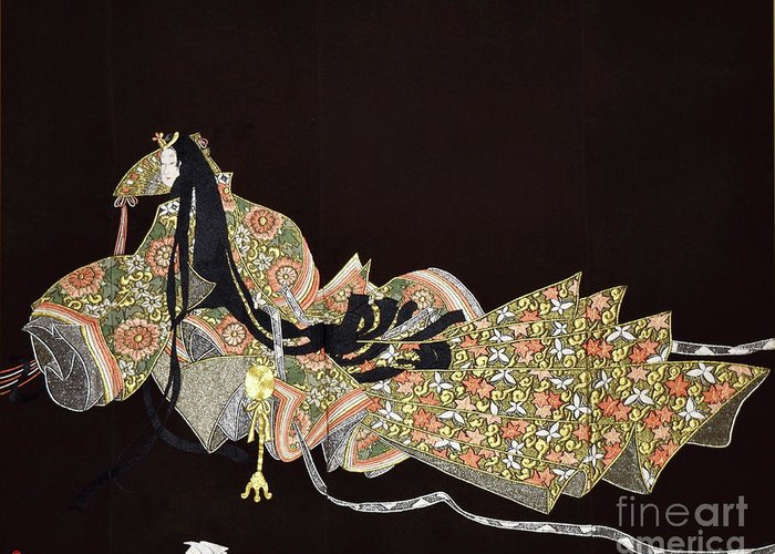 Greeting Card featuring the tapestry - textile Spirit of Japan T91 by Miho Kanamori
