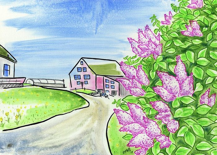 Lilac Greeting Card featuring the painting Spring Lilac by Kevin Cameron