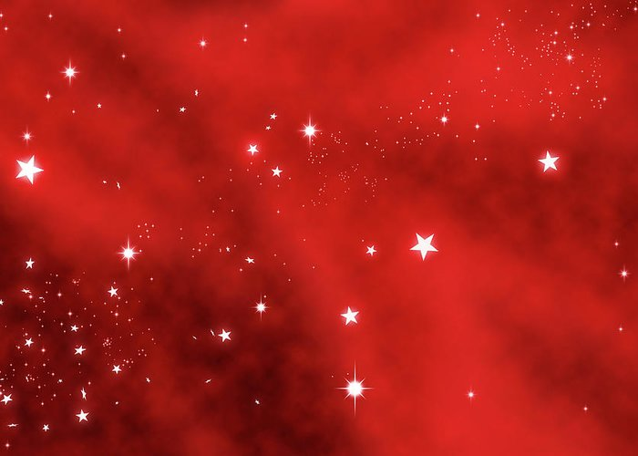 Holiday Greeting Card featuring the photograph Stars Background by Enter89