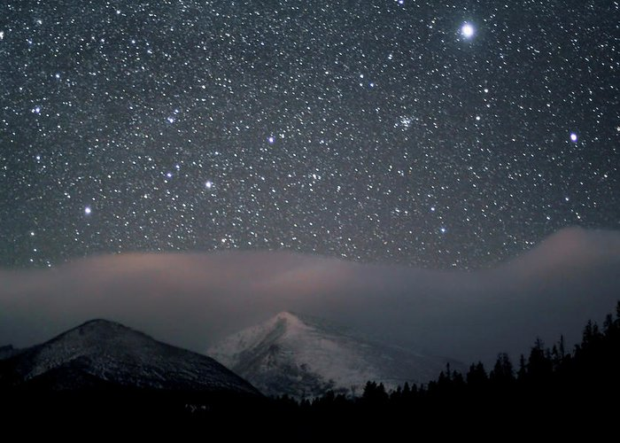 Constellation Greeting Card featuring the photograph Stars Over Rocky Mountain National Park by Pat Gaines