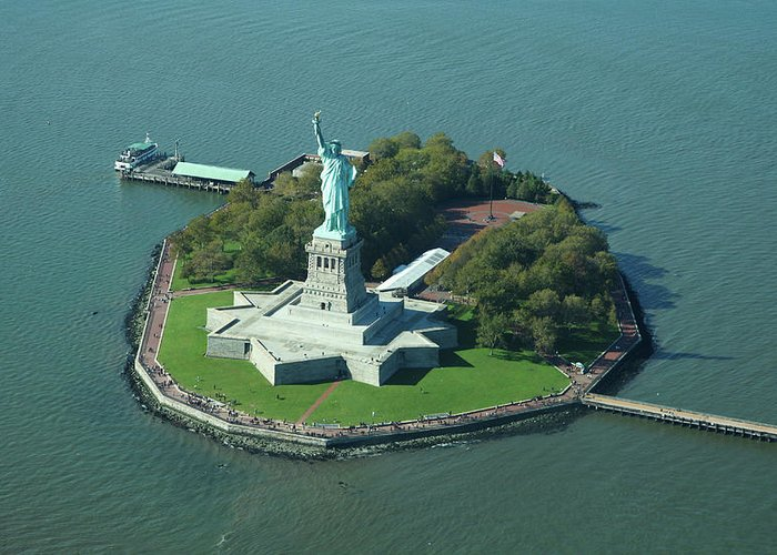 Shadow Greeting Card featuring the photograph Statue Of Liberty by Copyright Www.floridaphoto.com 305.235.7051