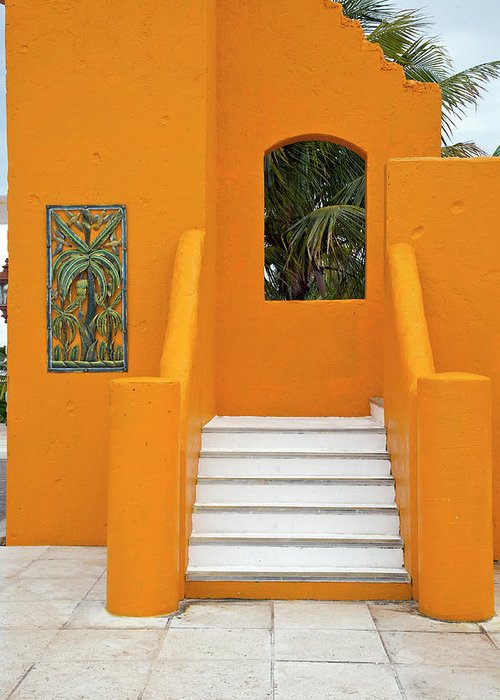Steps Greeting Card featuring the photograph Steps, Patterns, Colors Of The by Barry Winiker