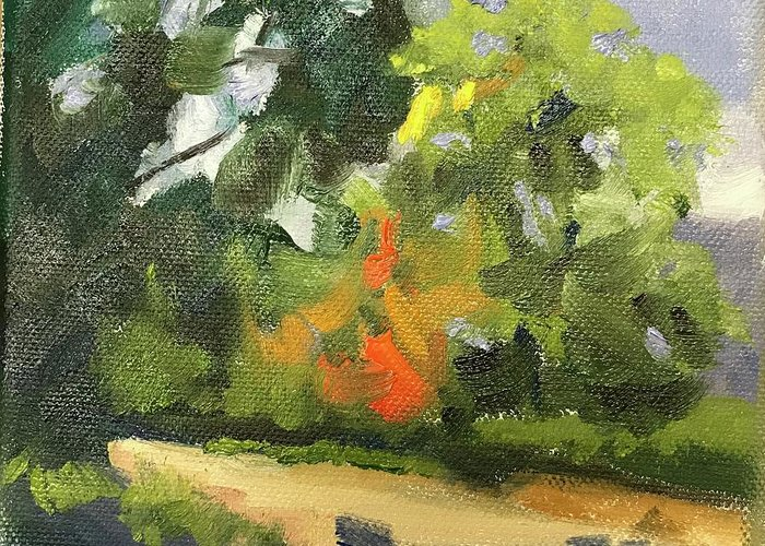 Greeting Card featuring the painting Sunny Day by Karen Jordan