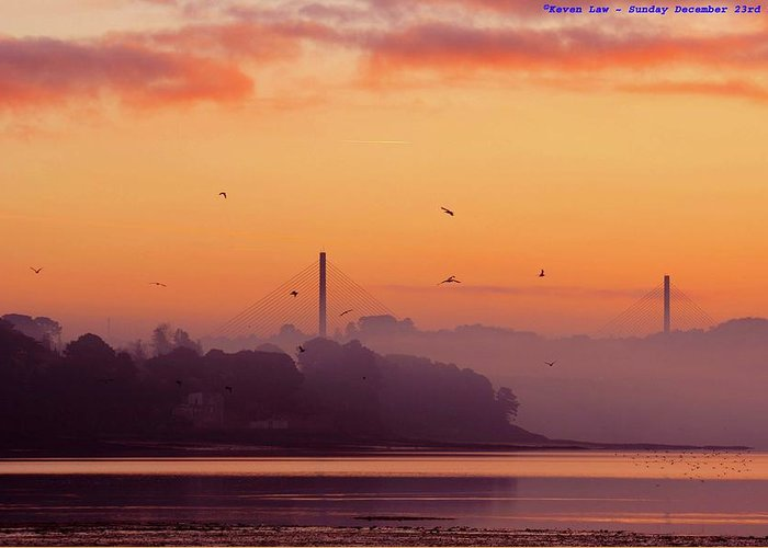 Scenics Greeting Card featuring the photograph Sunrise by All Images Taken By Keven Law Of London, England.