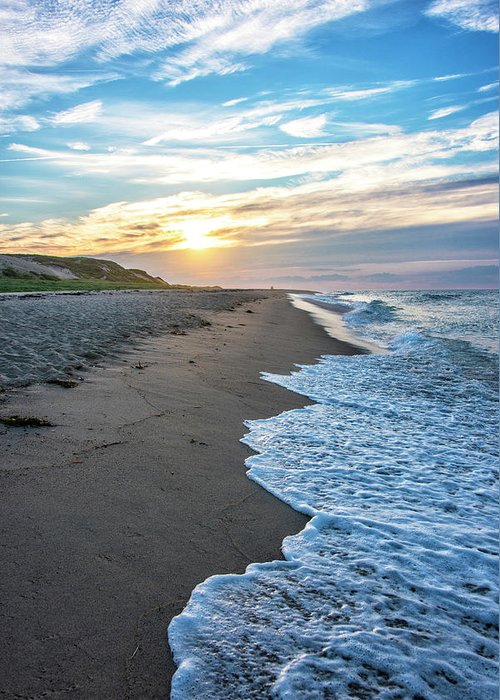 Cape Cod Sunset Greeting Card featuring the photograph Sunset At Cape Cod National Seashore - Massachusetts by Brendan Reals