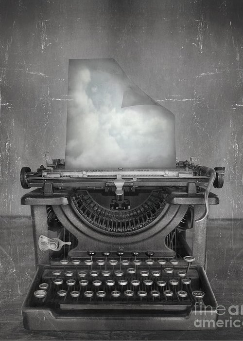 Idea Greeting Card featuring the photograph Surreal Imagine In Black And White Of A by Valentina Photos