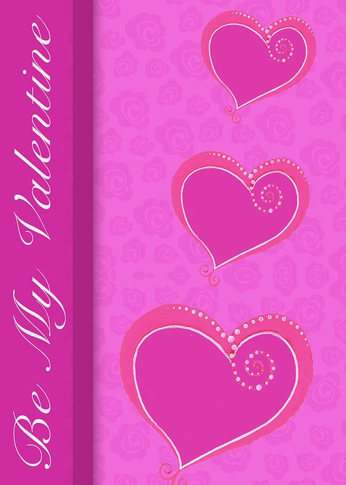 Sweet Greeting Card featuring the mixed media Sweet Pink Valentines IIi by Andi Metz