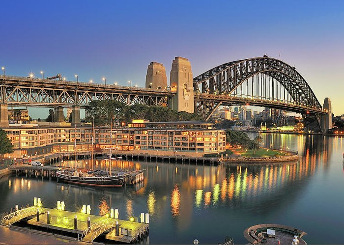 Built Structure Greeting Card featuring the photograph Sydney Harbour Bridge by Warwick Kent