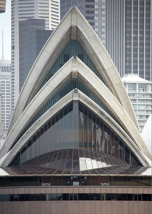 Built Structure Greeting Card featuring the photograph Sydney Opera House by Andrew Holt