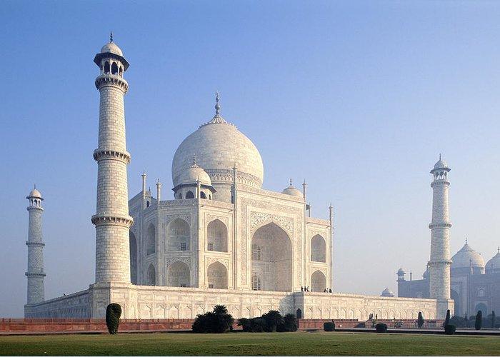 Scenics Greeting Card featuring the photograph Taj Mahal, Agra, Uttar Pradesh, India by Frans Lemmens