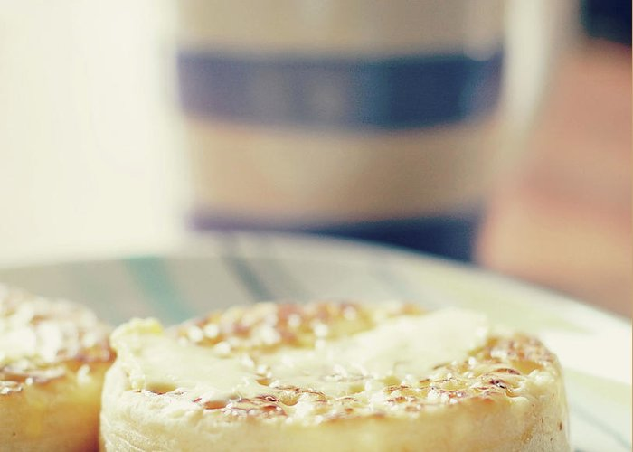 Healthy Eating Greeting Card featuring the photograph Tea And Crumpets by Deborah Slater