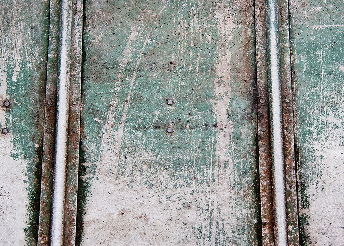 Green Greeting Card featuring the photograph Texture Found On The Docks by Carol Leigh