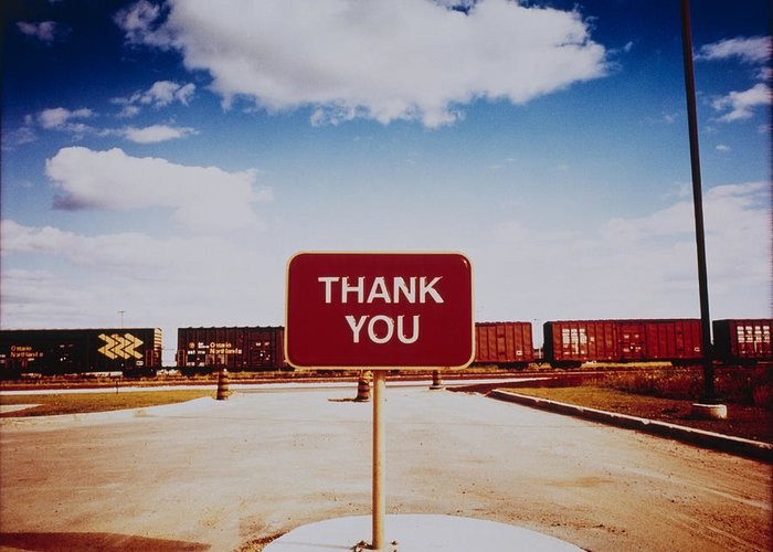 Thank You Greeting Card featuring the photograph Thank You Sign by Silvia Otte