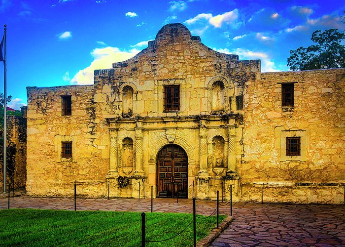 The Alamo Greeting Card featuring the photograph The Alamo Mission by Garry Gay