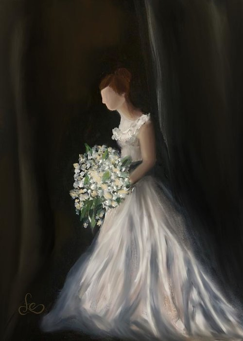 Greeting Card featuring the painting The Big Day by Fe Jones