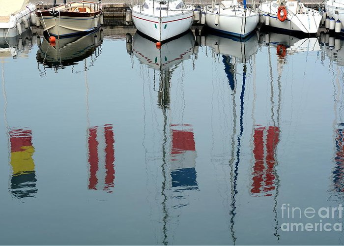 City Greeting Card featuring the photograph The Boat And The Reflection by Liberowolf