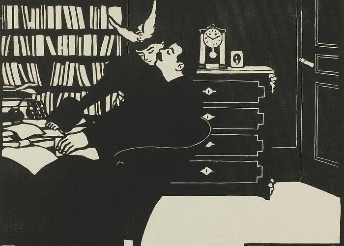 19th Century Art Greeting Card featuring the relief The Cogent Reason, Plate Four From Intimacies by Felix Edouard Vallotton
