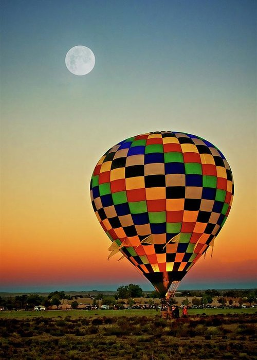 Southwest Greeting Card featuring the photograph The Dawn of Light, 2017 Albuquerque International Balloon Festival by Zayne Diamond Photographic