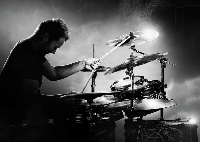 Drummer Greeting Card featuring the photograph The Drummer by Johan Swanepoel