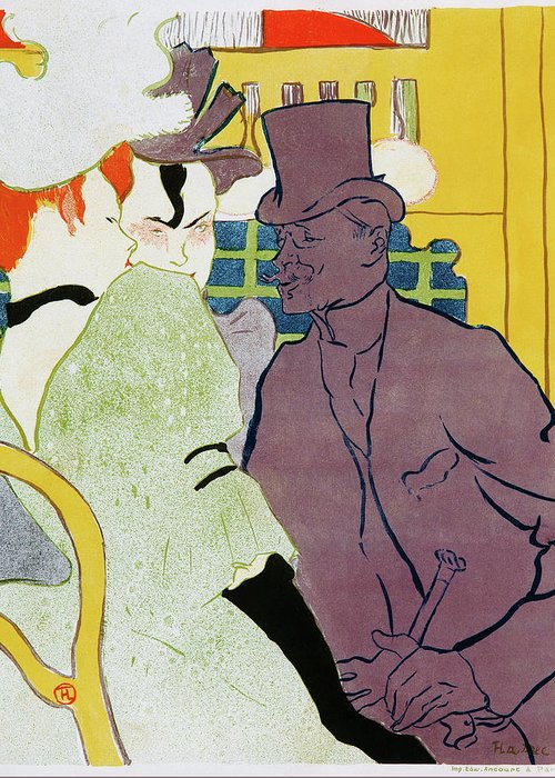 Henri De Toulouse-lautrec Greeting Card featuring the painting The Englishman At The Moulin Rouge - Digital Remastered Edition by Henri de Toulouse-Lautrec