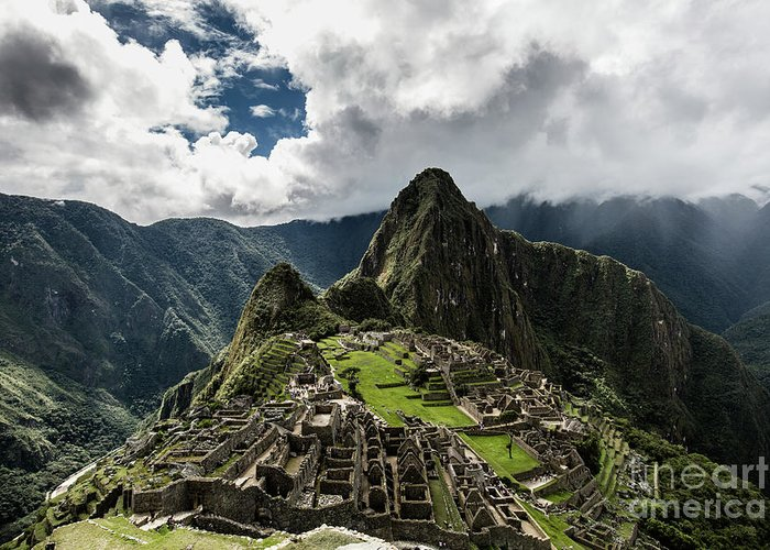 Scenics Greeting Card featuring the photograph The Inca Trail, Machu Picchu, Peru by Kevin Huang