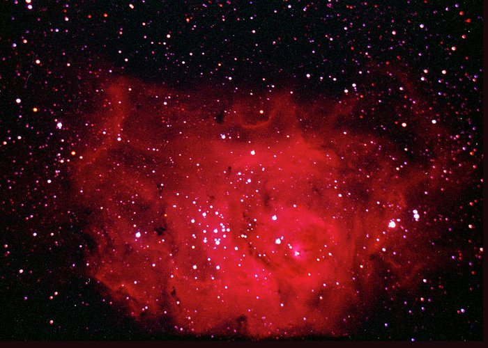 Majestic Greeting Card featuring the photograph The Lagoon Nebula In Sagittarius by A. V. Ley