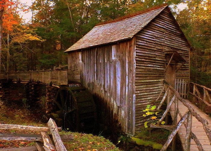 Grist Greeting Card featuring the photograph The Old Grist Mill by Scott Heaton