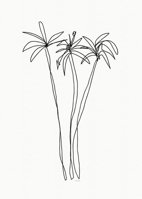 Interior Decor Drawings Greeting Cards