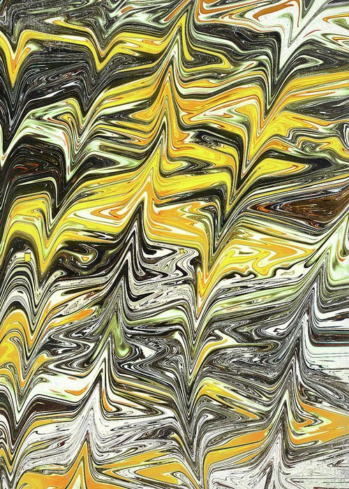 Abstract Greeting Card featuring the digital art Thunderstruck by Jack Entropy