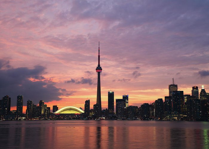 Lake Ontario Greeting Card featuring the photograph Toronto by Js`s Favorite Things