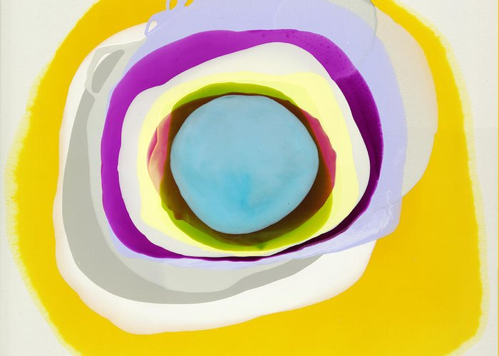 Abstract Greeting Card featuring the photograph Tranquil by Claire Desjardins