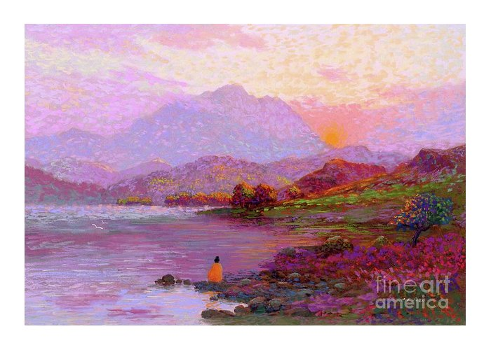 Meditation Greeting Card featuring the painting Tranquil Mind by Jane Small