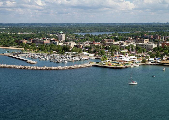 Lake Michigan Greeting Card featuring the photograph Traverse City, Michigan by Ct757fan