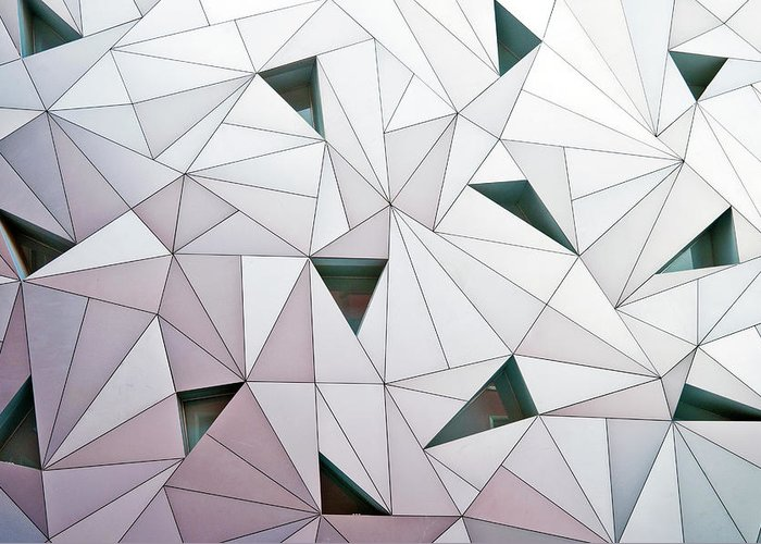Madrid Greeting Card featuring the photograph Triangulation 1 by Linda Wride