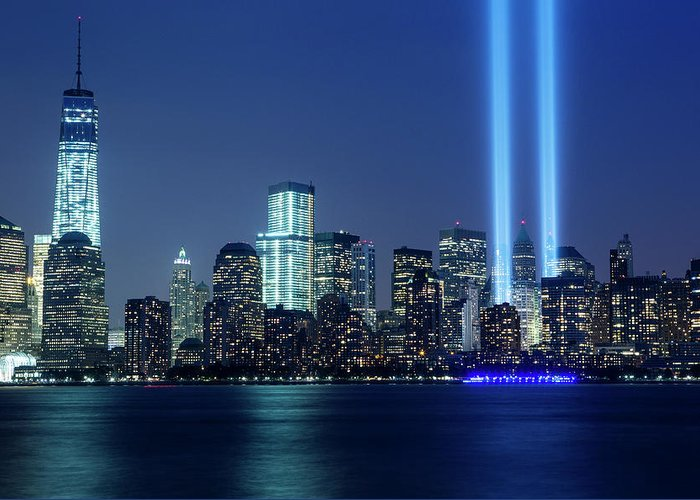 Tranquility Greeting Card featuring the photograph Tribute In Lights by Nathan Blaney