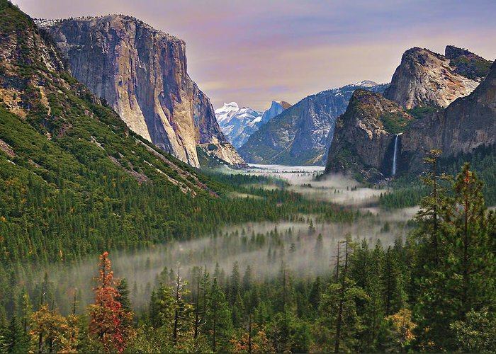 Scenics Greeting Card featuring the photograph Tunnel View. Yosemite. California by Sapna Reddy Photography
