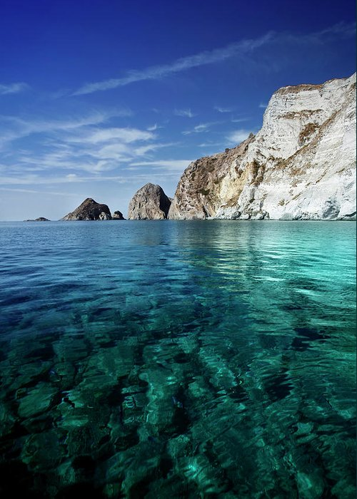 Scenics Greeting Card featuring the photograph Typical Mediterranean Sea In Italy by Piola666