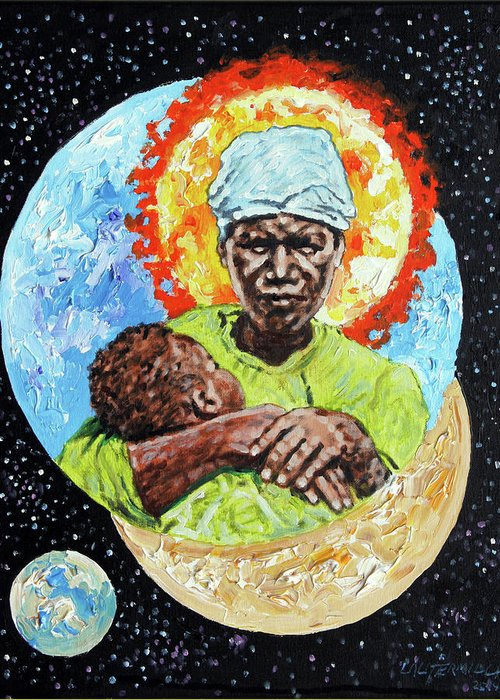 Mother Greeting Card featuring the painting Unconditional Love by John Lautermilch